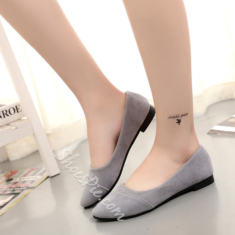 Shoespie Solid Color Round Toe Loafers