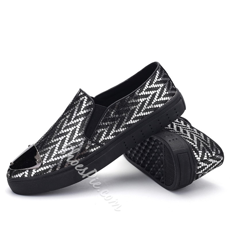 Shoespie Wild Chevron Print Men Loafers