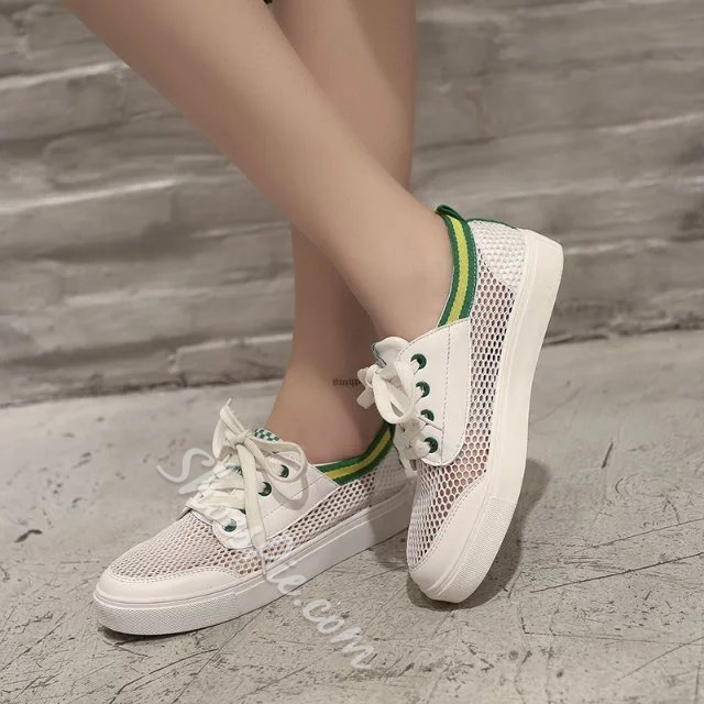 Shoespie Mesh Purfle Sneakers