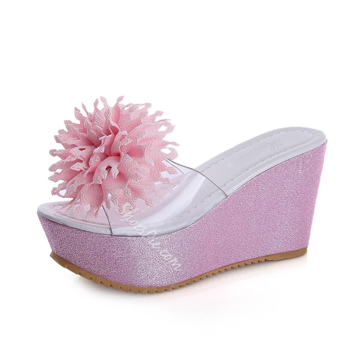 Shoespie Fashion Flower Embellished Mule Shoes