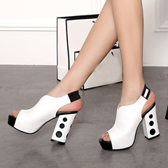 Shoespie Punk Style Contrast Color Sandals