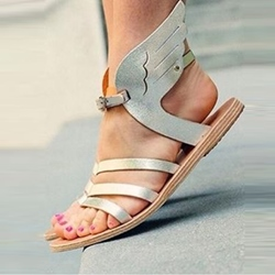 Shoespie Silver Wings Flat Sandals