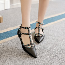 Shoespie Chic Rivets Loafers
