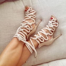 Shoespie Ropes Lace Up Dress Sandals
