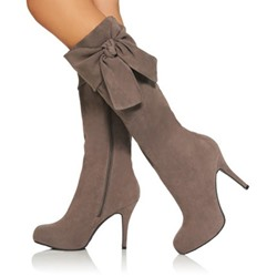 Shoespie Side Boetie Zipper Knee High Boots