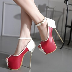 Shoespie Gorgeous Sky High Contrast Color Platform Heels