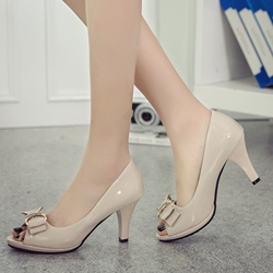 Shoespie Elegant Peep Toe Court Shoes