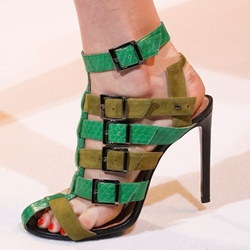 Shoespie Color Block Buckles Sandals