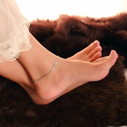 Shoespie Stylish Sliver Layered Anklet(Single)