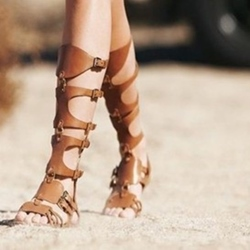 Shoespie Camel Gladiator Sandals