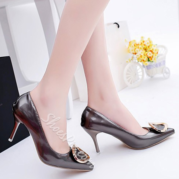 Shoespie Simply Giant Buckle Stiletto Heels