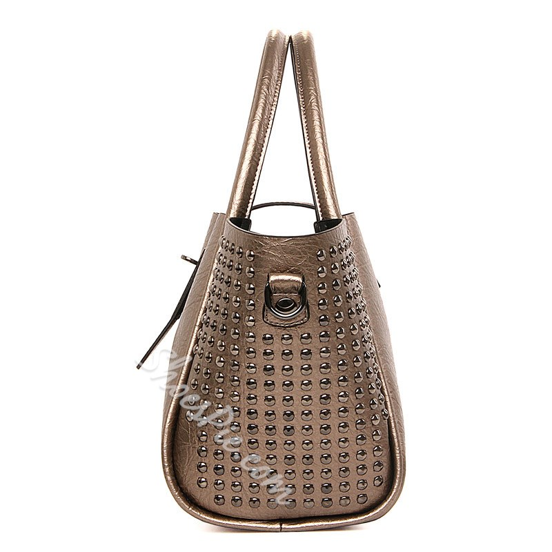 Shoespie Classy Rivets Large Tote Bag