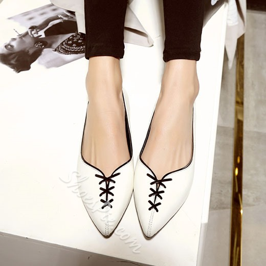 Shoespie Delicate Lace Up Loafers