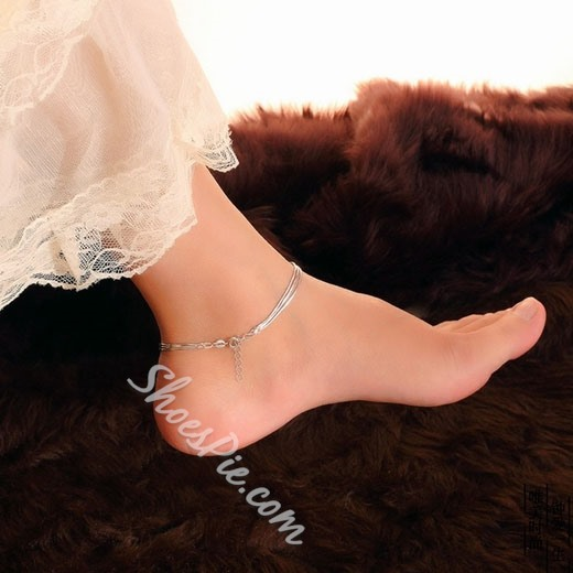 Shoespie Stylish Sliver Layered Anklet
