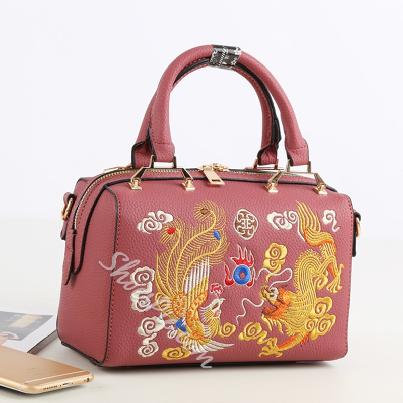 Shoespie Chinese Dragon Embroidered Tote Bag