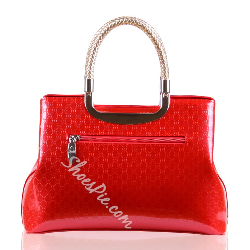 Shoespie Chic Patent Leather Tote