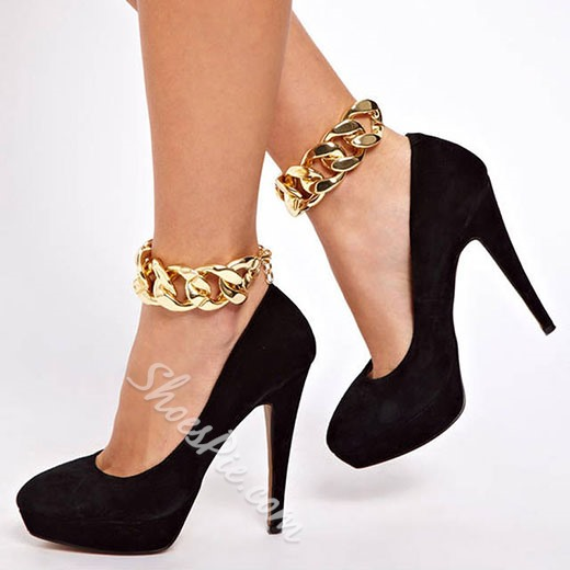 Shoespie Luxurious Golden Chain Anklet