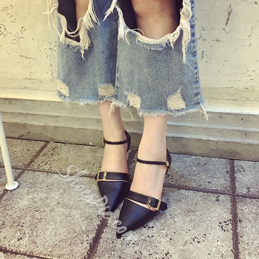 Shoespie Stylish Buckles Stiletto Heels