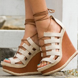 Shoespie Caged Wedge Sandals