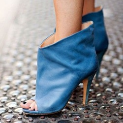 Shoespie Navy Blue Sandal Boots