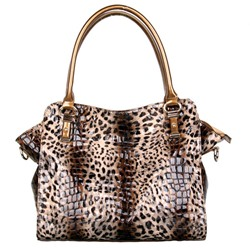 Shoespie Chic Leopard Print Tote