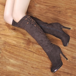 Platform Stiletto Heel Knee High Boots
