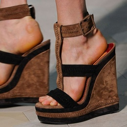 Shoespie Purfle Wedge Sandals