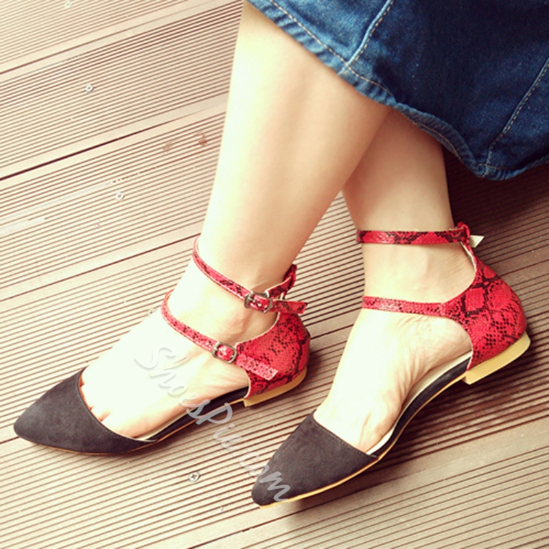 Shoespie Contrast Color Two Part Loafers