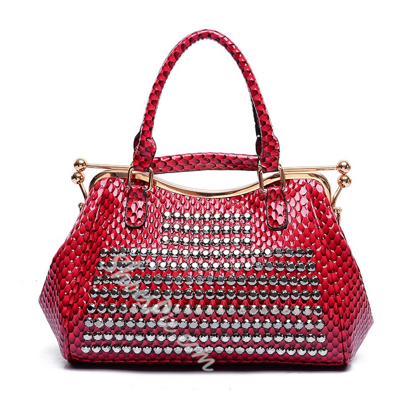 Shoespie Chic Stone Pattern Tote Bag