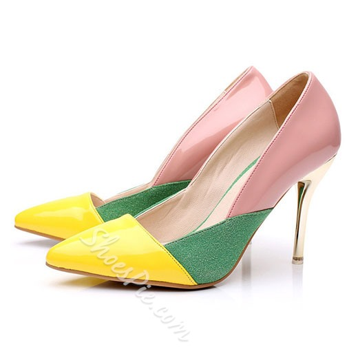 Shoespie Chic Color Block Stiletto Heel Court Shoes