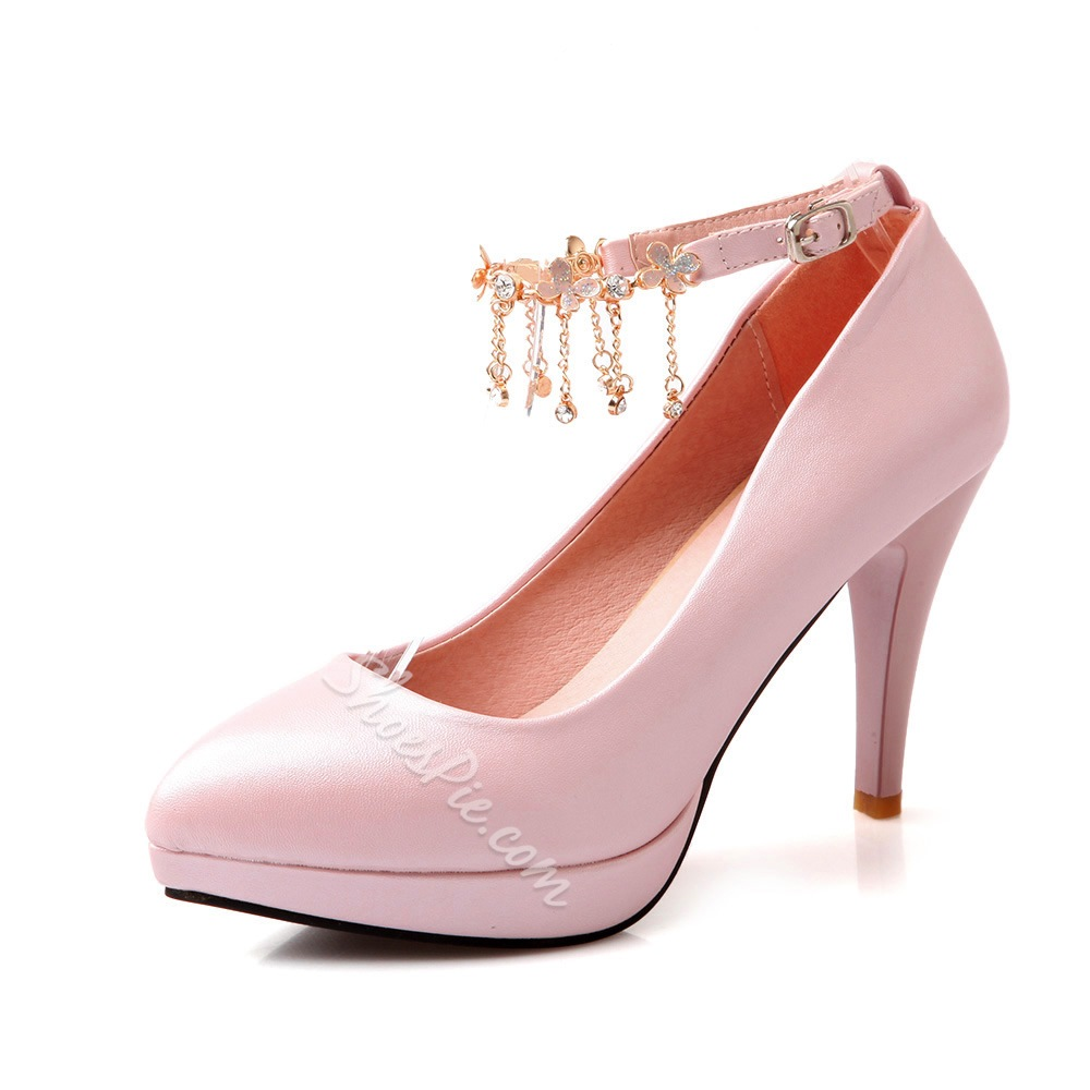 Shoespie Chic Platform Ankle Wrap Prom Shoes