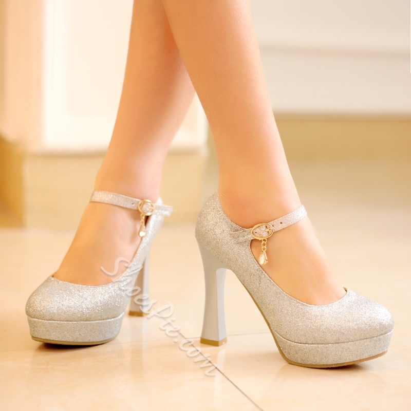 Shoespie Sequined Glittering Prom Shoes