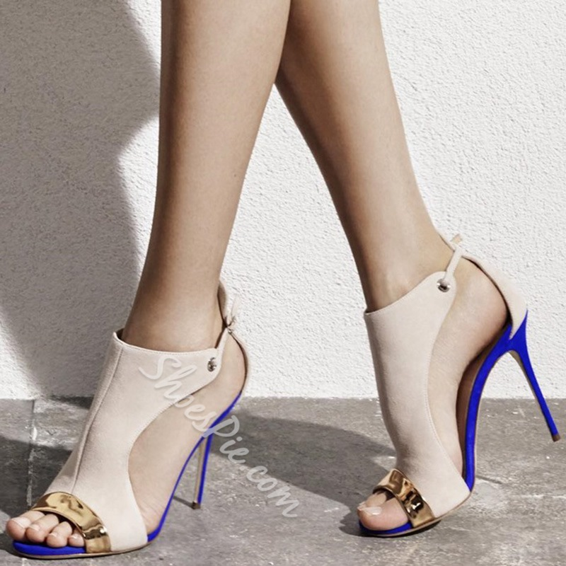 Shoespie Designer Color Block Dress Sandals