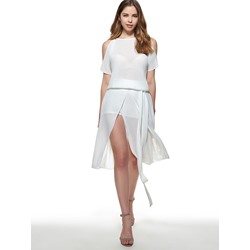 Mid-Calf Short Sleeve Round Neck Women's Dress