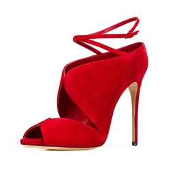 Shoespie Elegant Red Dress Sandals