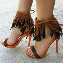 Shoespie Layered Fringe Sandals