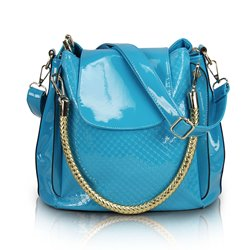 Shoespie Mirror Leather Handbag
