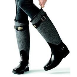 Chic Flat Knee High Boots with Buckle