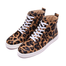 Shoespie Leopard Print Men's Sneakers