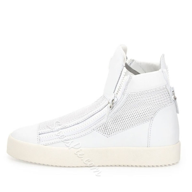 Shoespie White Mesh Men's Sneakers