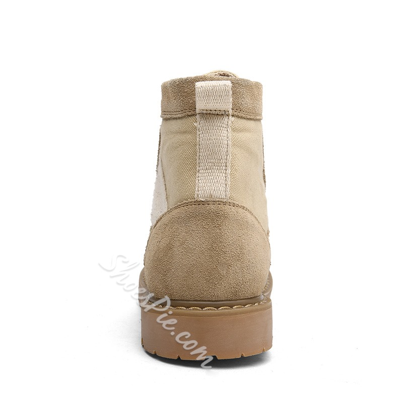 Shoespie Patchwork Martin Boots