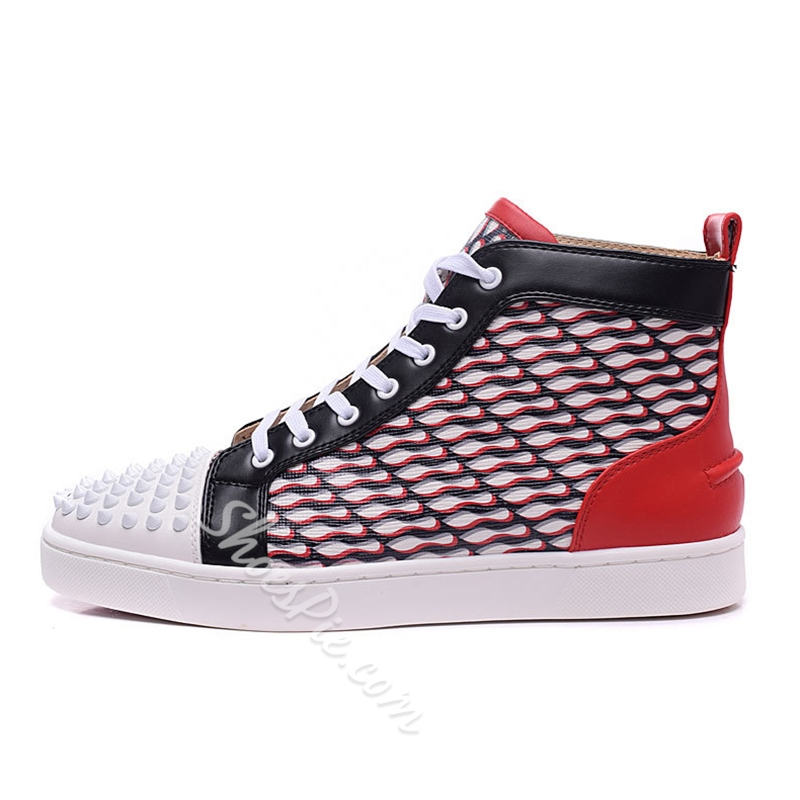 Shoespie Chic Paint and Spikes Men's Sneakers