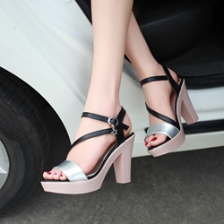 Shoespie Sweet Chunky Heel Platform Sandals