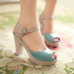 Shoespie Bright Color Platform Sandals