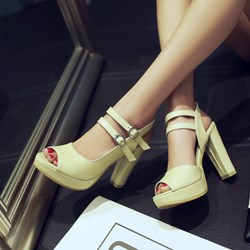 Shoespie Duo Straps Platform Sandals