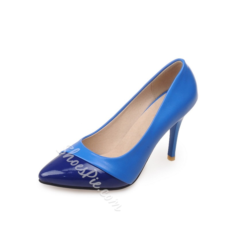 Shoespie Fashinable Contrast Color Stiletto Heels