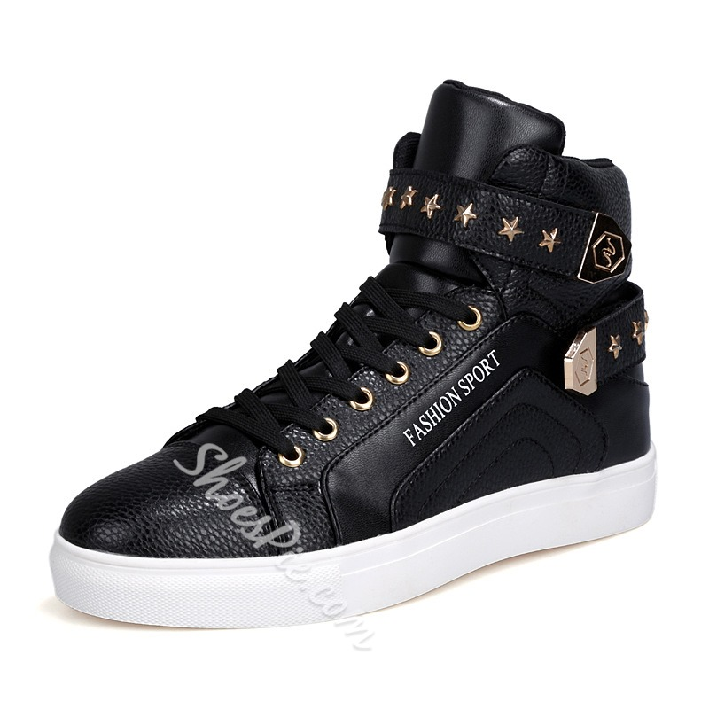 Shoespie Velcro and Rivets Men's Sneakers