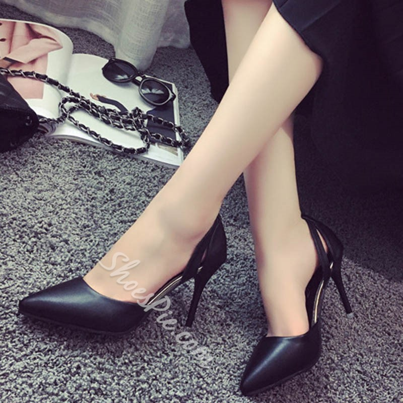 Shoespie Classy Solid Color Stiletto Heels