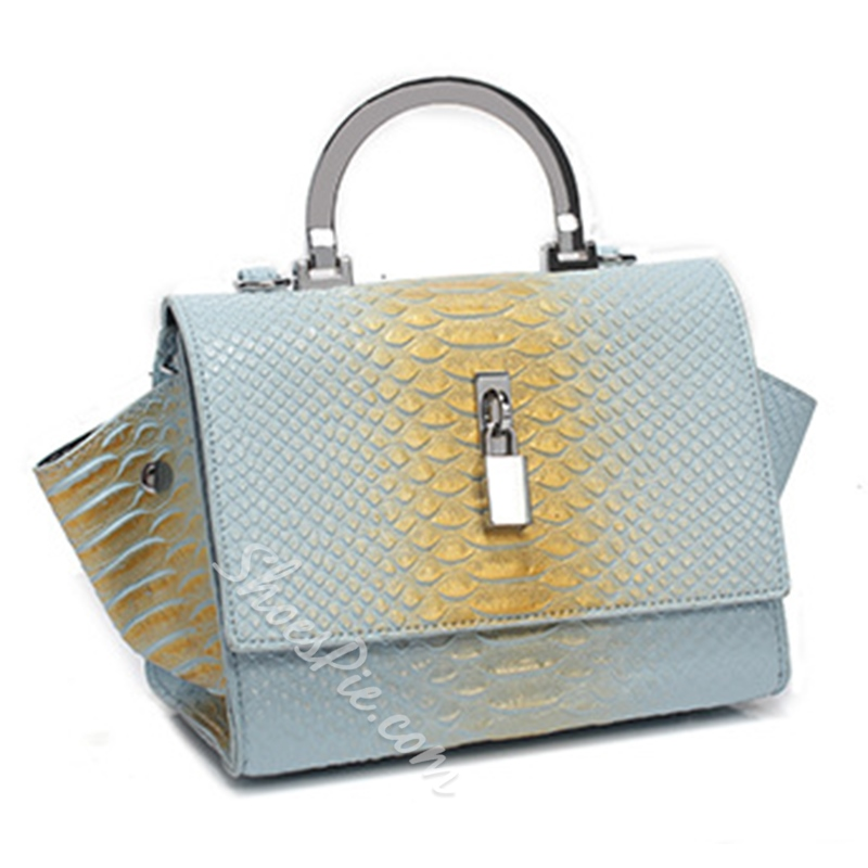Shoespie Snake Effect Brush Off Tote