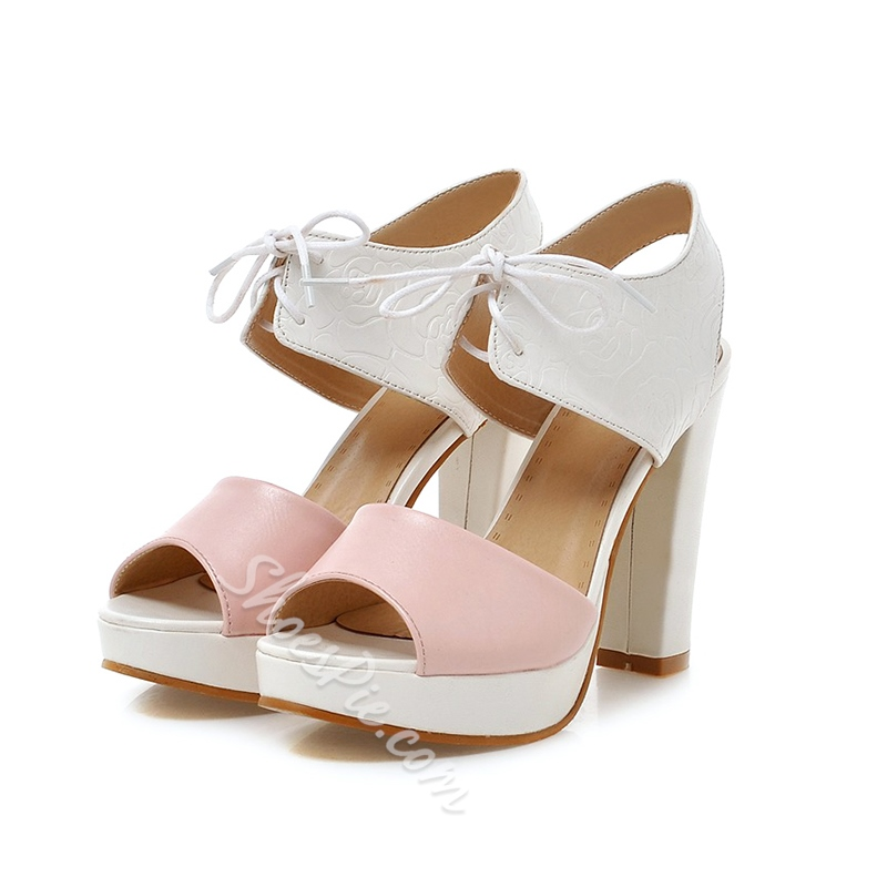 Shoespie Sweet Multi Color Platform Sandals